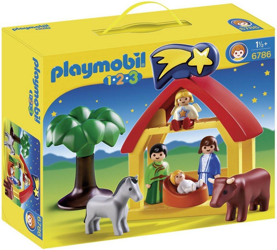 Playmobil® Weihnachtskrippe (6786), Playmobil 1-2-3 in blau