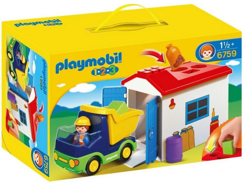 Playmobil® LKW mit Sortiergarage (6759), Playmobil 1-2-3