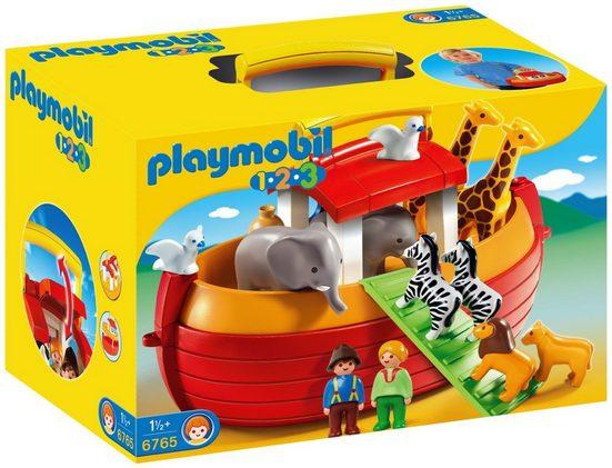 Playmobil® Konstruktionsspielsteine »Meine Mitnehm-Arche Noah (6765), Playmobil 1-2-3«