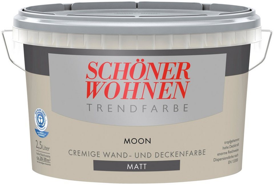 Trendfarbe »moon«, matt in moon