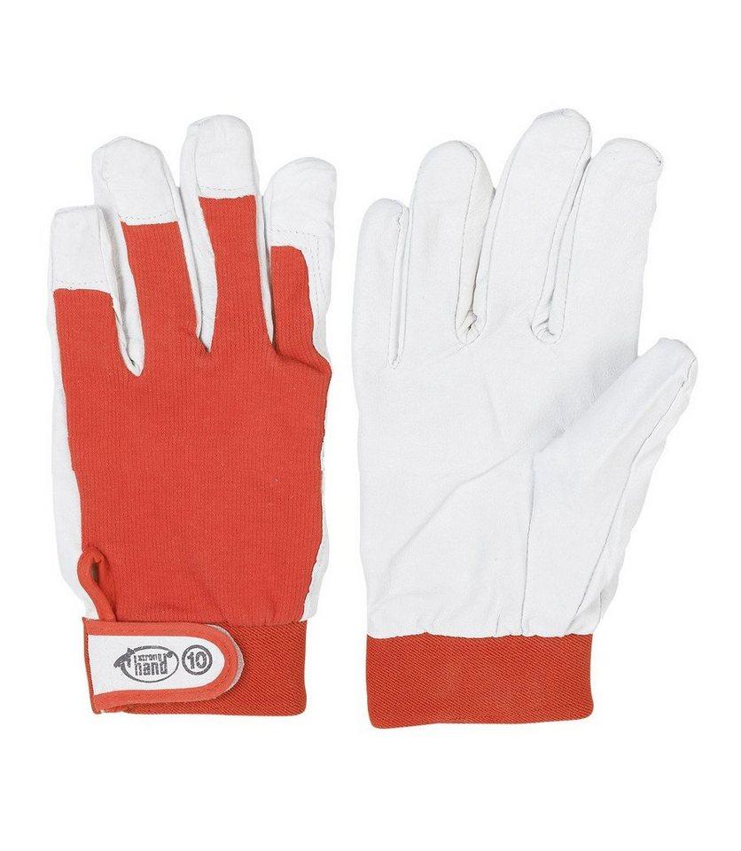 Handschuhe (3 Paar) in rot/weiß
