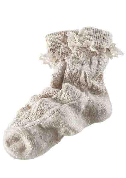 Trachten-Socken Damen mit zarter Spitze
