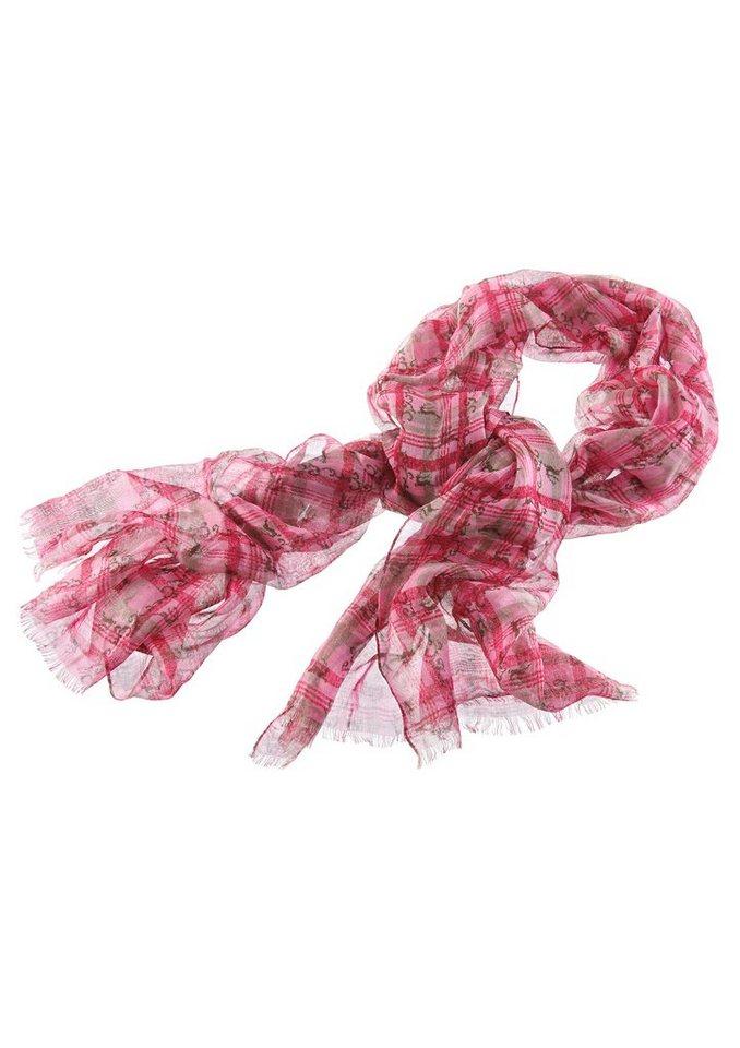 Trachten-Schal mit Hirschmotiv in pink