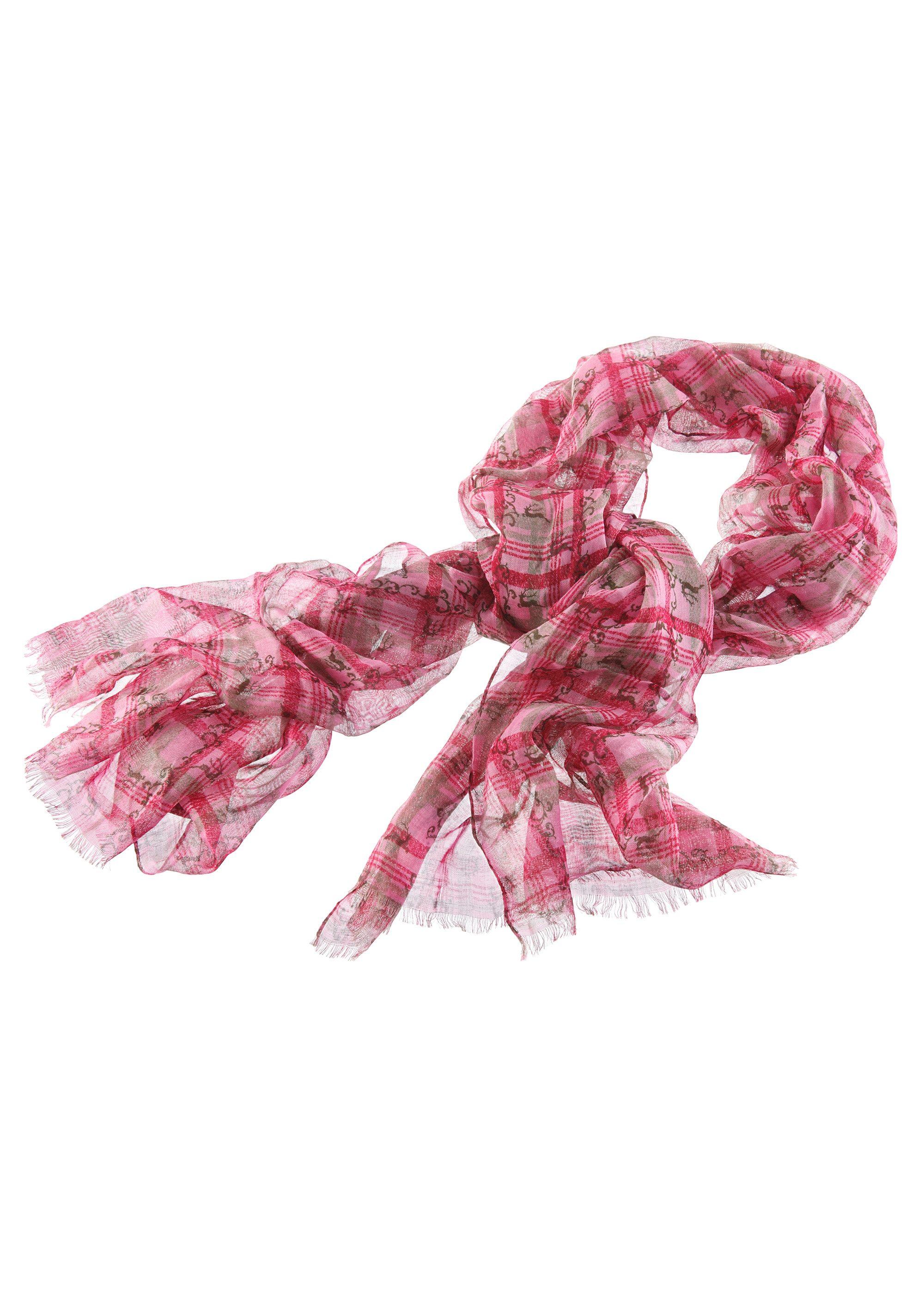 Trachten-Schal mit Hirschmotiv