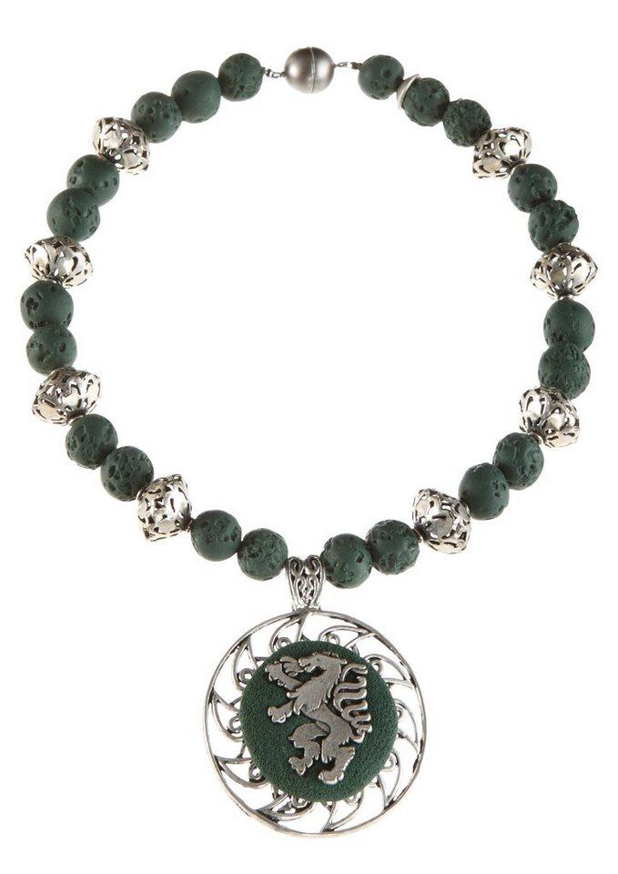 K&K Kunstduo Trachten-Halskette mit Magnetverschluß in tanne