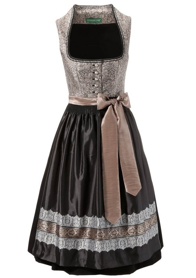 country line dirndl midi mit edlem muster kaufen otto. Black Bedroom Furniture Sets. Home Design Ideas