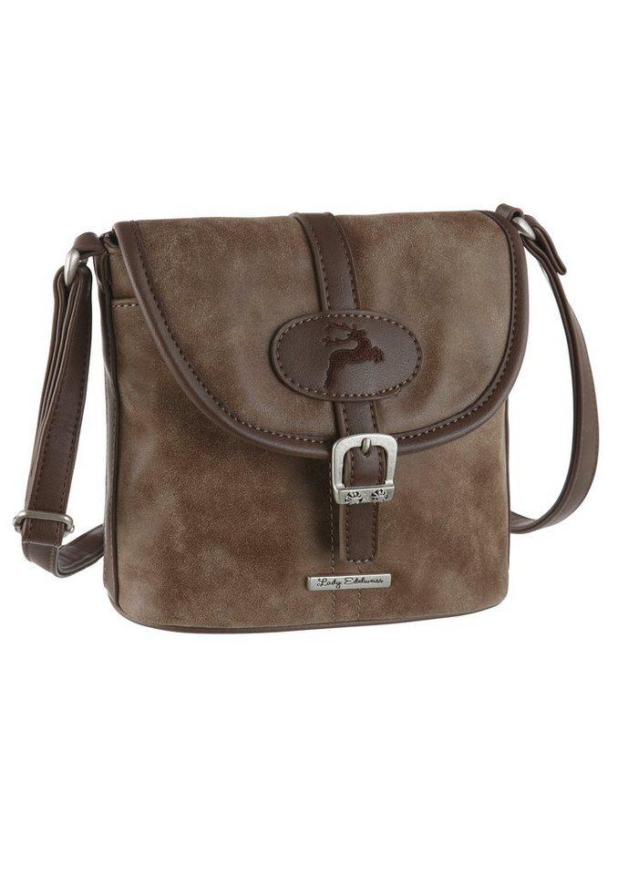 Lady Edelweiss Trachtentasche mit verstellbaren Trägerriemen in braun