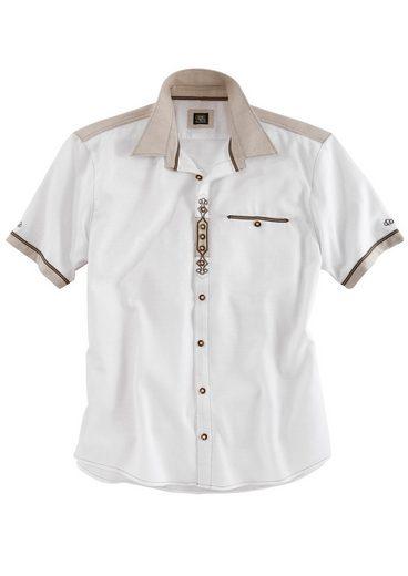 OS-Trachten Trachtenhemd in Leinenoptik