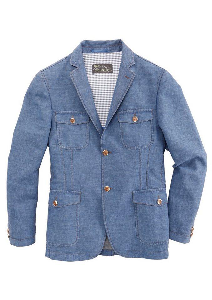 Murk Trachtenjacke Herren im modischen Jeanslook in blau