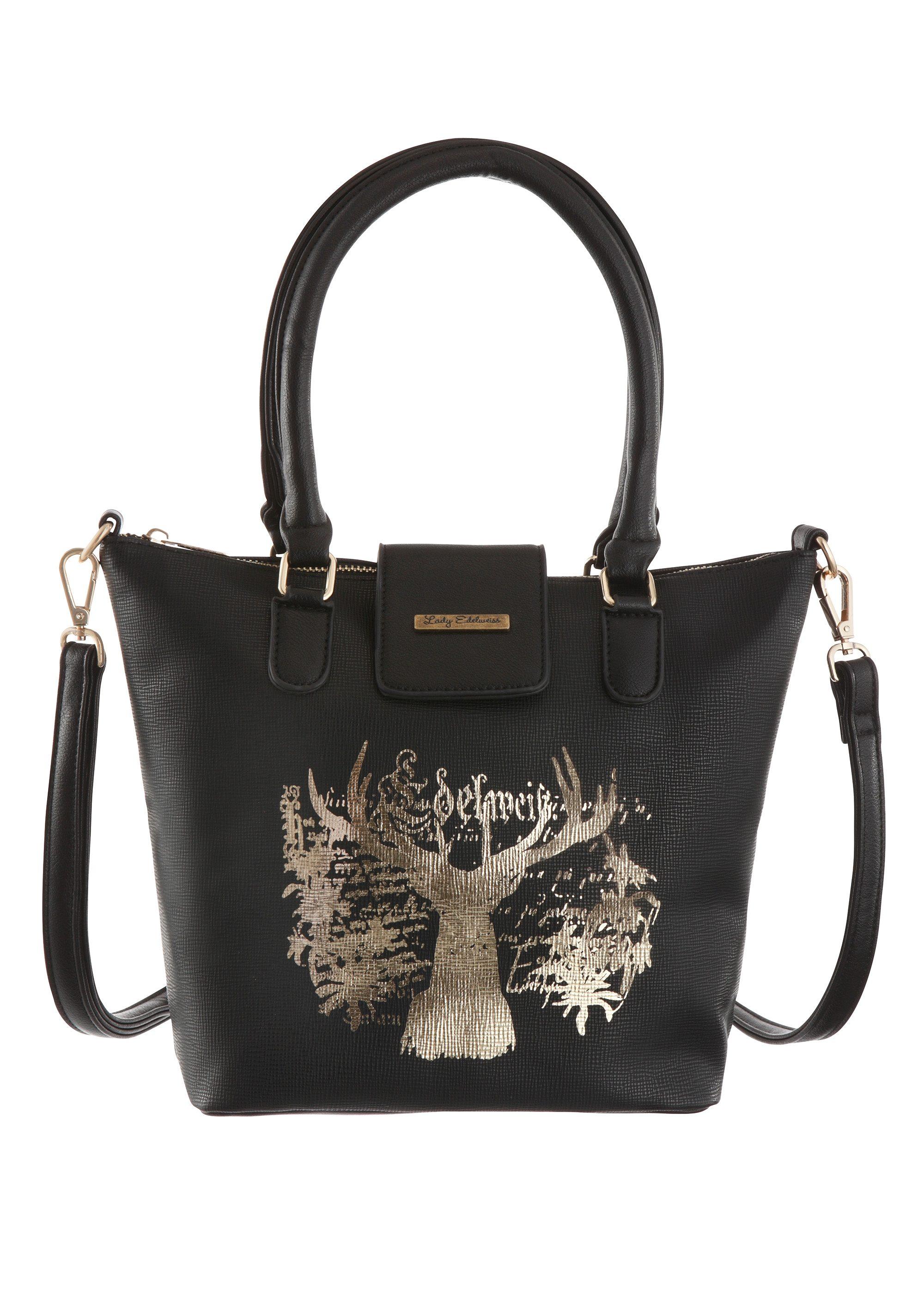 Lady Edelweiss Trachtentasche mit edlem Hirschdruck