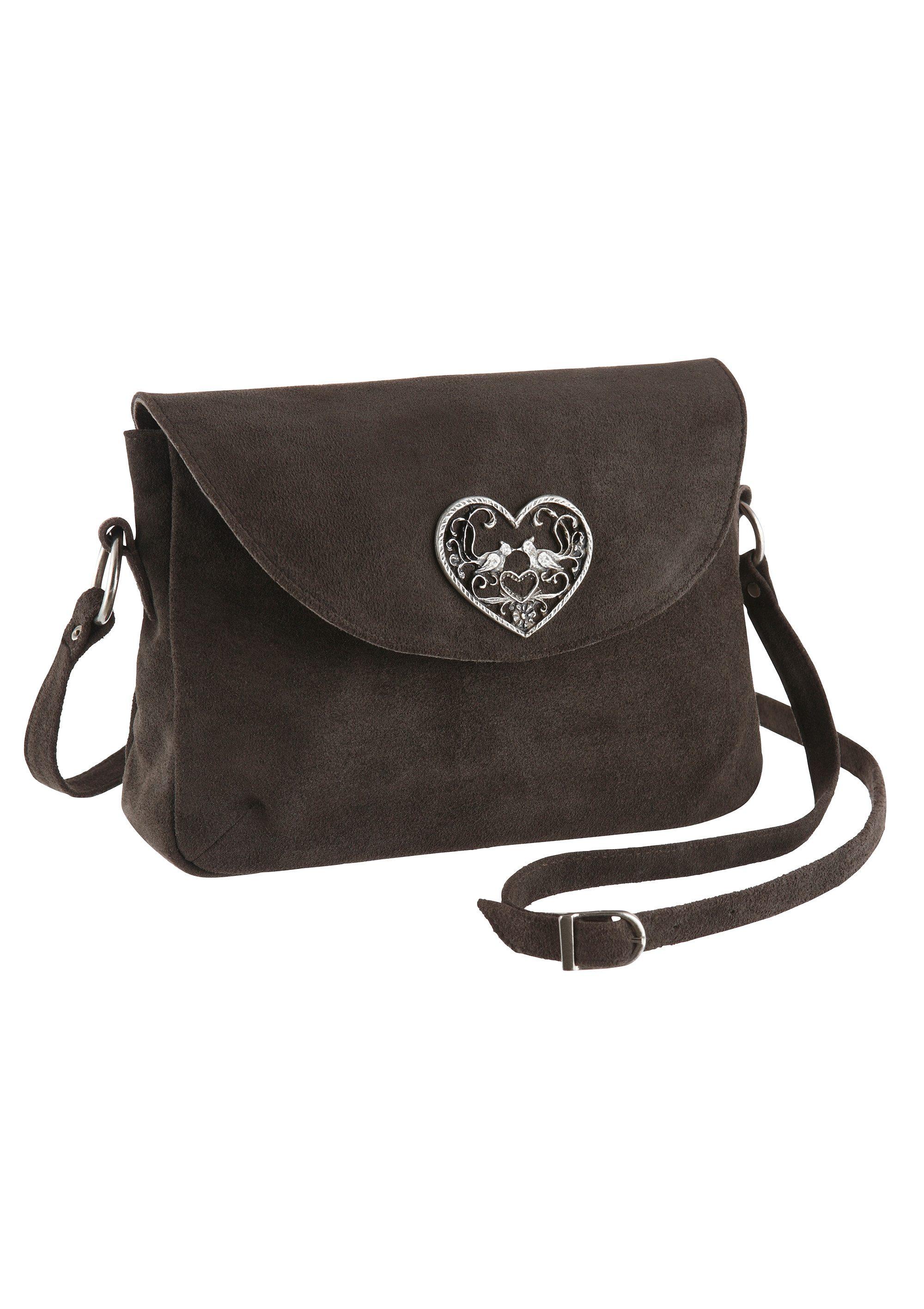 Trachtentasche mit Herzapplikation