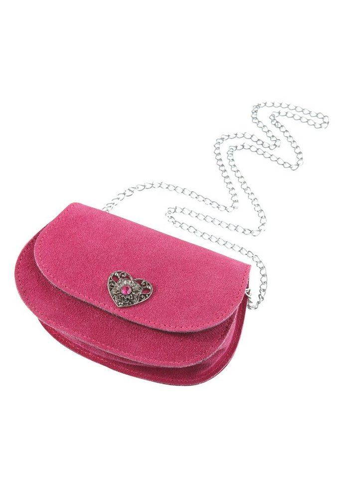Trachtentasche mit Gliederkette in pink