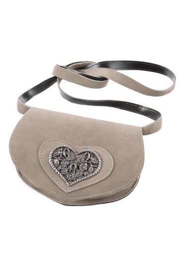 Kabe Leder Accessoires Trachtentasche, mit Herzapplikation