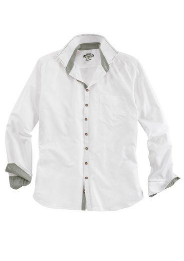 Ziersteppnähten Mit trachten Weiß Os Trachtenhemd qVSGUMpz