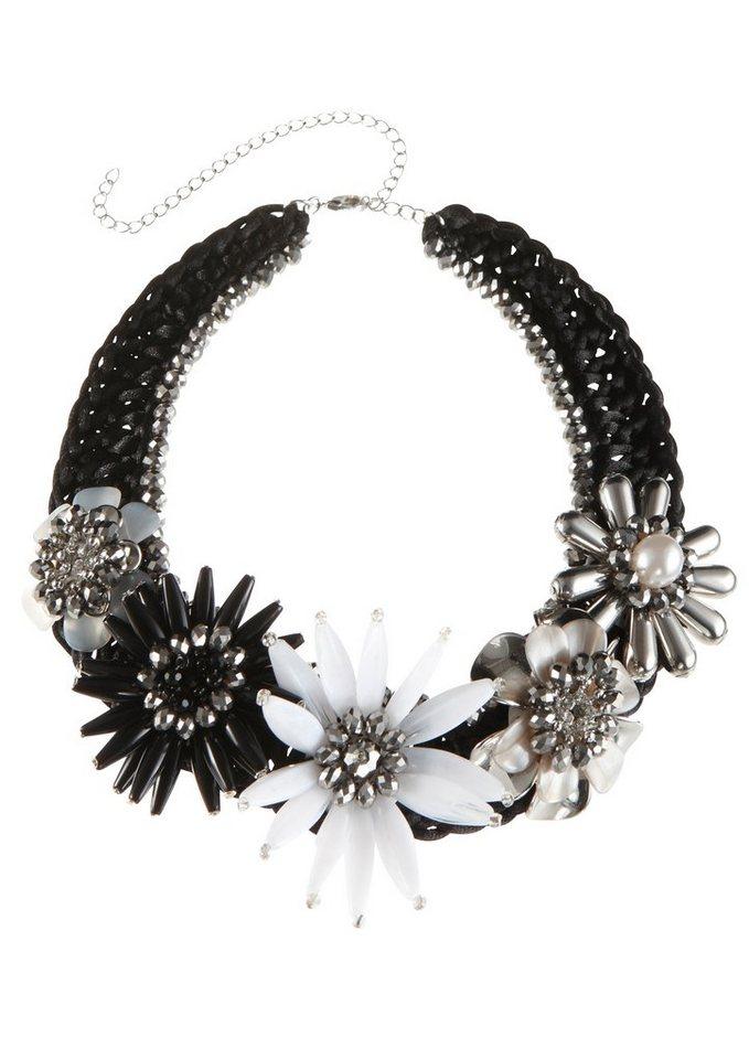 Klimm Trachten-Halskette mit Perlen in schwarz