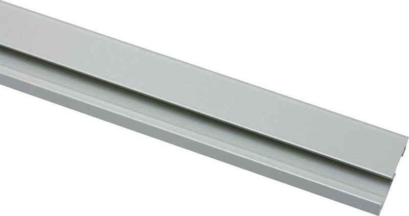 Vorhangschiene, GARDINIA, 1-läufig, Fixmaß, Serie Aluminim-Vorhangschiene