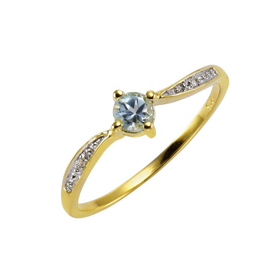 CELESTA Ring »375/- Gelbgold« in gelb