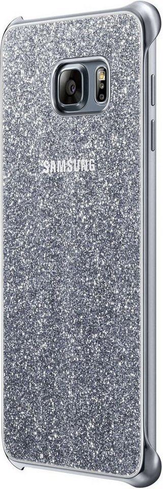Samsung Handytasche »Glitter Cover für Galaxy S6 Edge+« in Silber