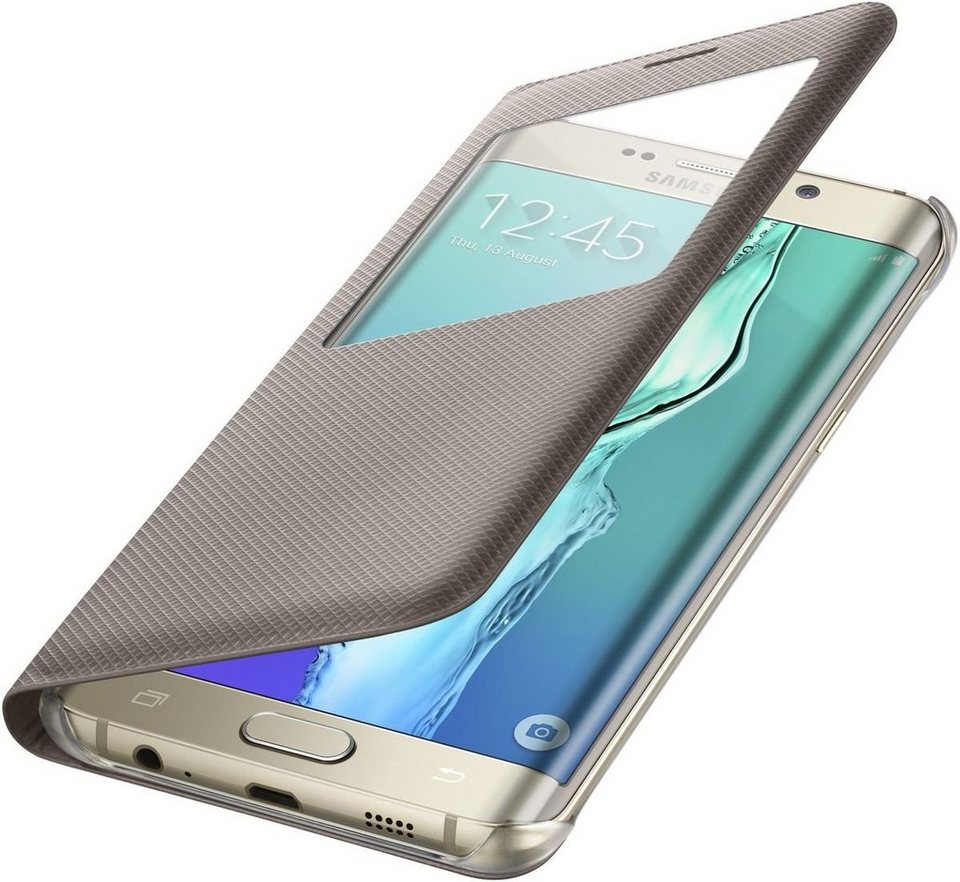Samsung Handytasche »S-View Cover für Galaxy S6 Edge+« in Gold