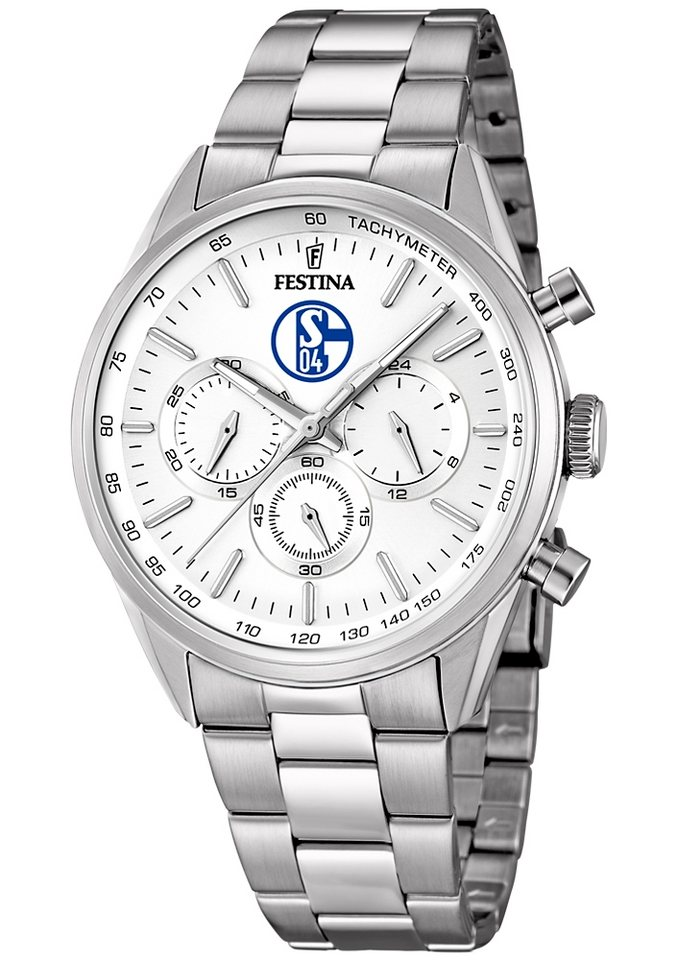 "Schalke 04, Chronograph, ""Sonderedition, F16820/P"" in silberfarben"