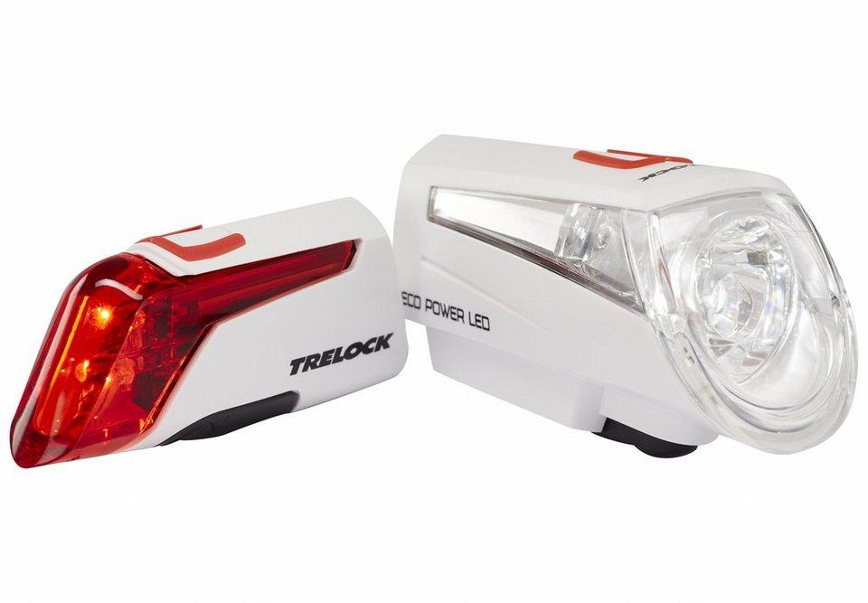 Trelock Fahrradbeleuchtung »LS 450/320 Beleuchtungsset weiß«