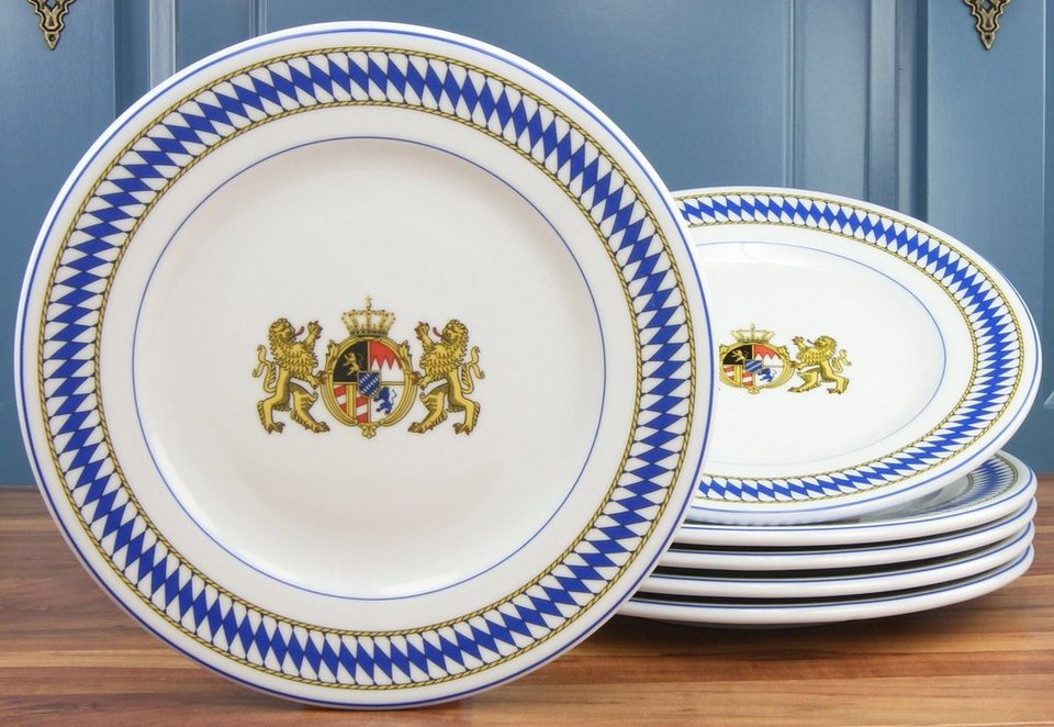 CreaTable Brotzeitteller, »Oktoberfest« (6 Stck.) in weiß/blau
