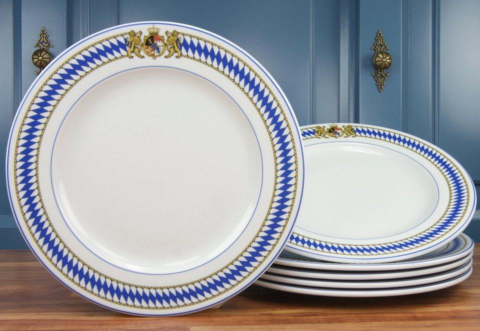 CreaTable Speiseteller, »Oktoberfest« (6 Stck.) in weiß/blau