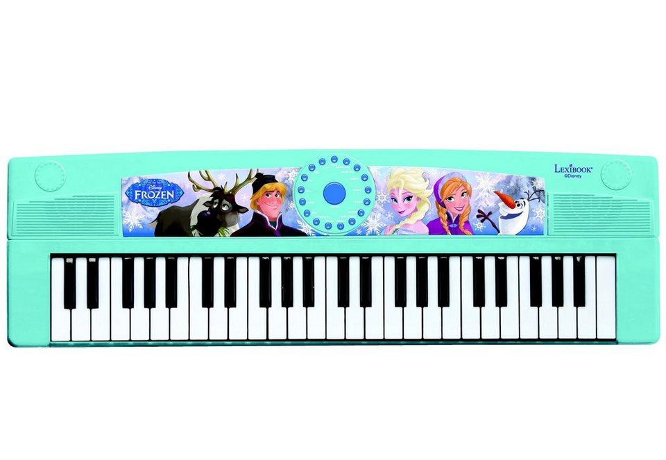 Lexibook, Keyboard für Kinder, Elektronisches Keyboard mit 49 Tasten, Disney Frozen in blau