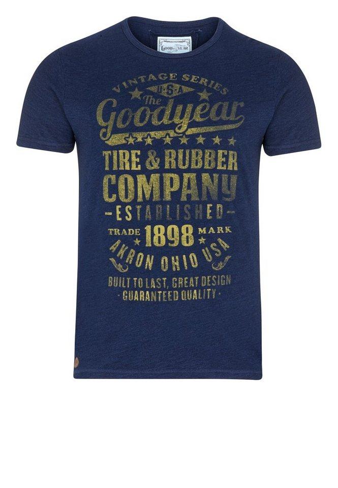 Goodyear T-Shirt »RICHMOND HILL« in Blue Denim used