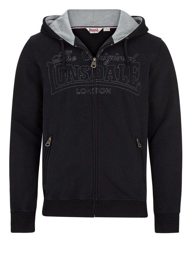 Lonsdale Sweatjacke in Black