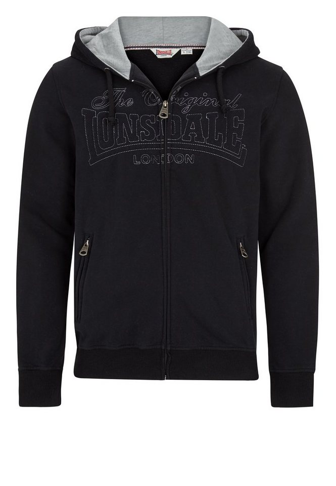 Lonsdale Sweatjacke »STANTON« in Black