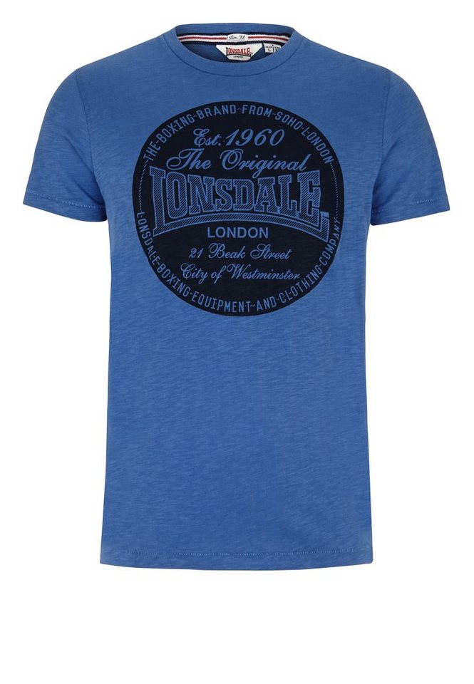 Lonsdale T-Shirt in Pigeon Blue