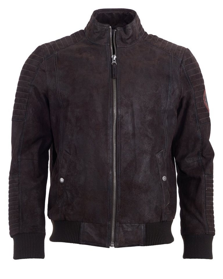 TOM TAILOR Lederblouson, Herren »5070003« in brown