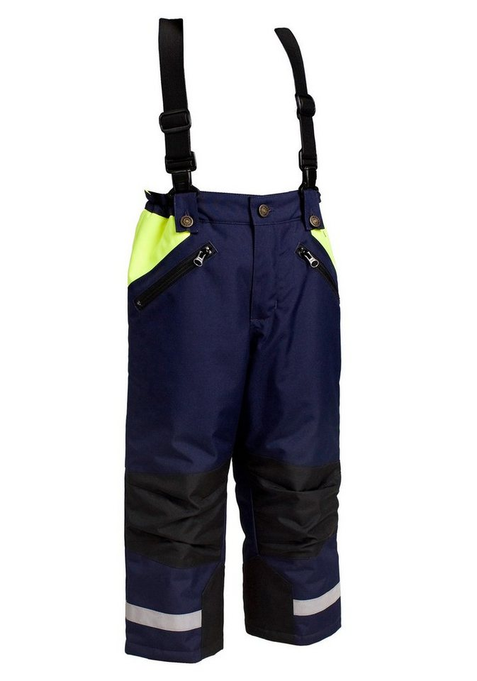 Kids Bundhose Winter in blau/gelb