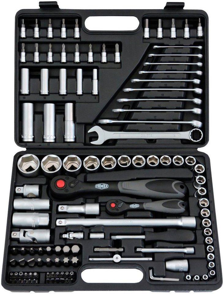 Steckschlüsselsatz »568-46« mit 72-Zahn-Feinzahnknarren, 4-32 mm, 120-teilig in schwarz