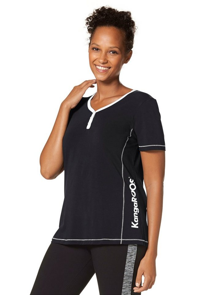 KangaROOS T-Shirt in schwarz