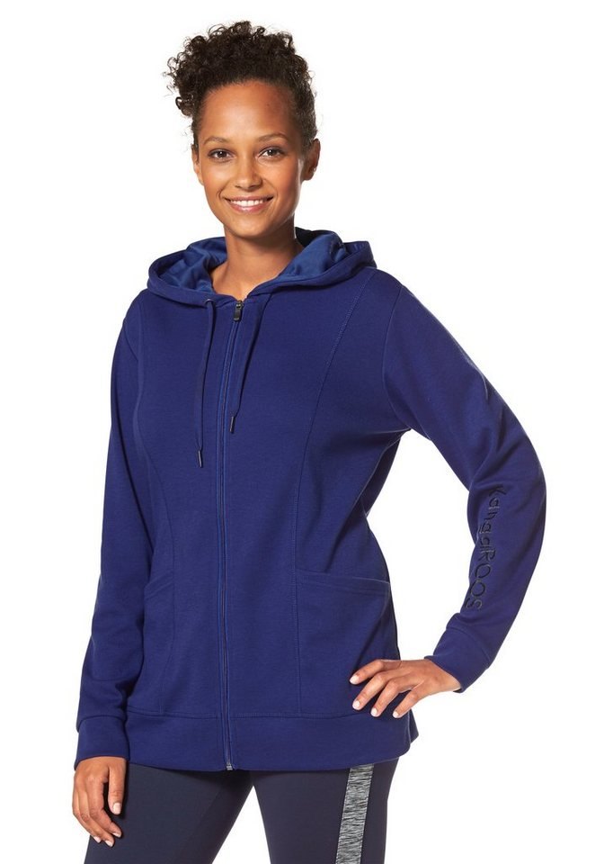 KangaROOS Sweatjacke in Royalblau