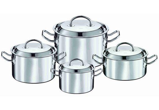 ROESLE Topf-Set »Multiply«, Edelstahl, Aluminium, (Set, 4-tlg), Induktion