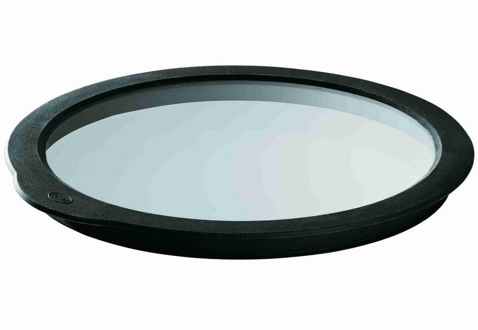 RÖSLE Frischhaltedeckel, Glas in schwarz