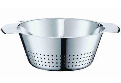 RÖSLE Seiher, Edelstahl 18/10, (1-St), konisch, zum Abseihen von Teigwaren und Gemüse und zum Waschen von Salaten, spülmaschinengeeignet