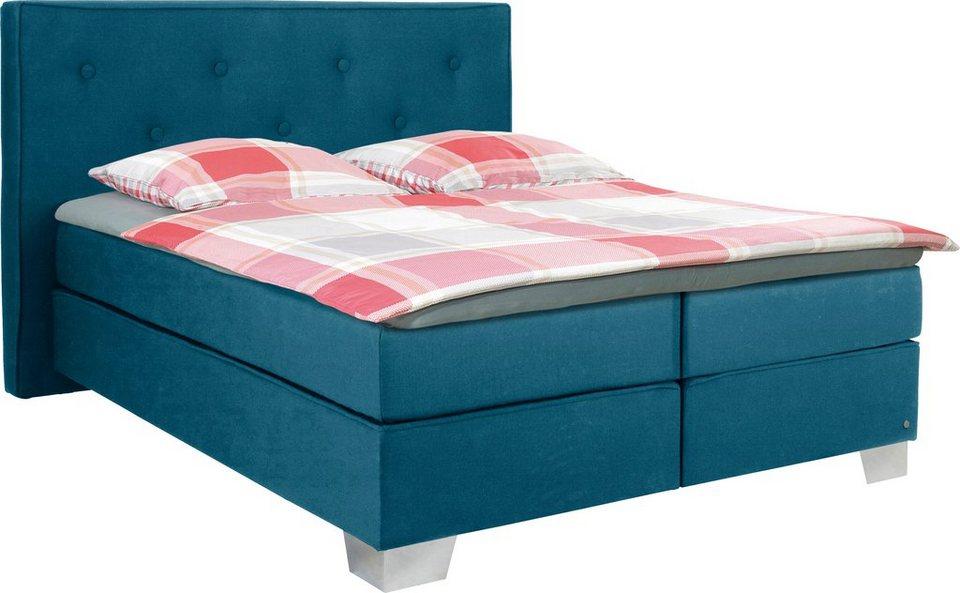 tom tailor boxspringbett mit hohem kopfteil soft box xl web kt 120 cm berl nge 220 cm. Black Bedroom Furniture Sets. Home Design Ideas