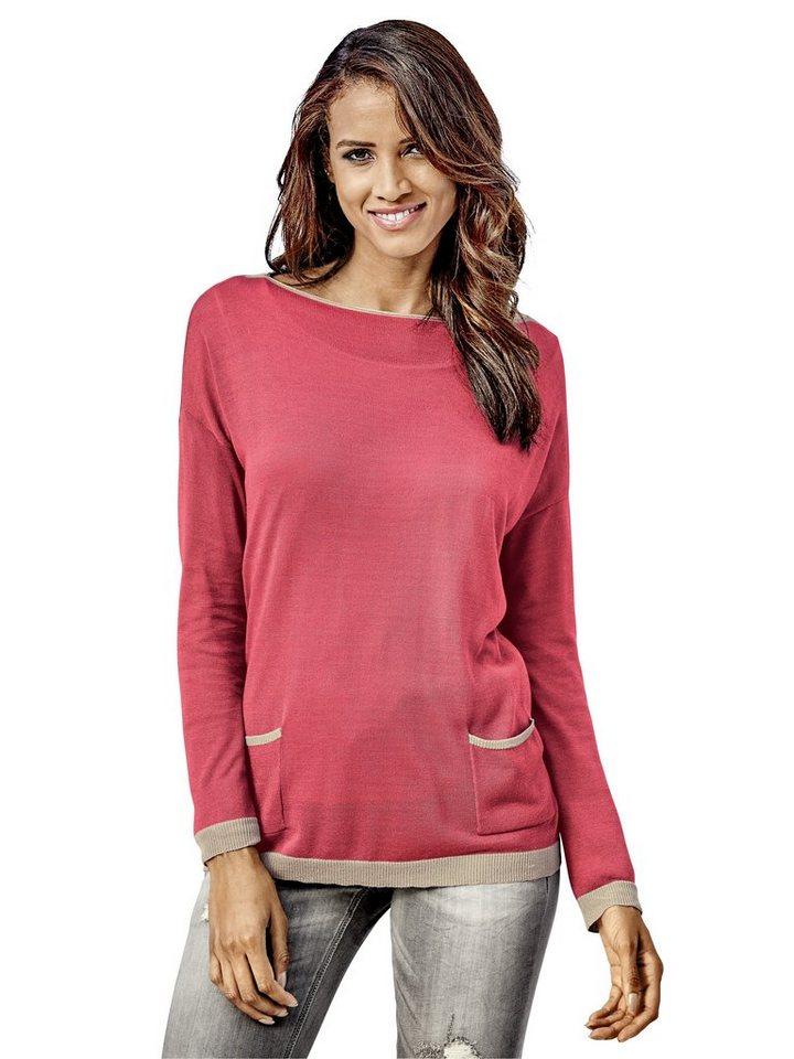 Oversized-Pullover in koralle