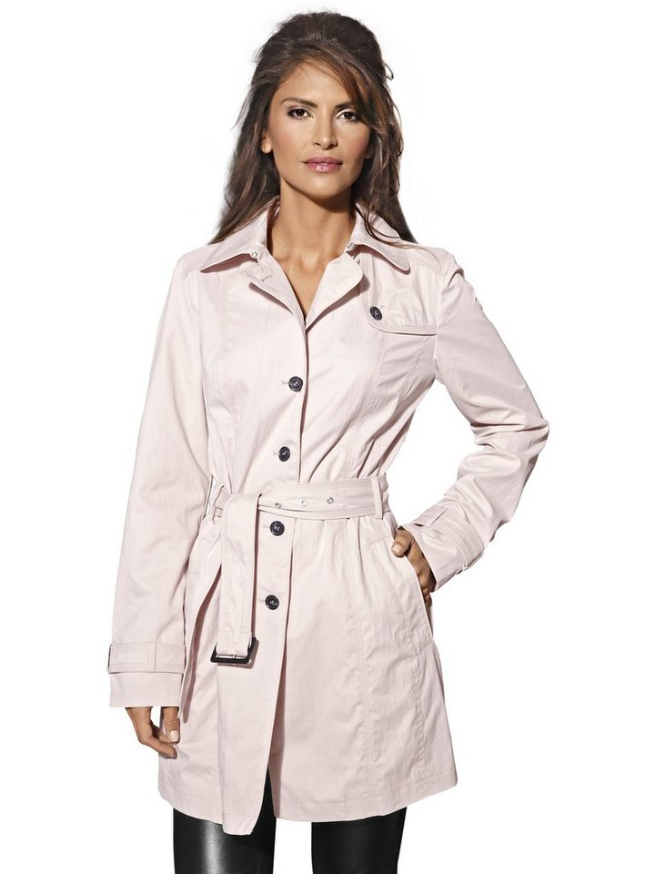 Trenchcoat in rosa