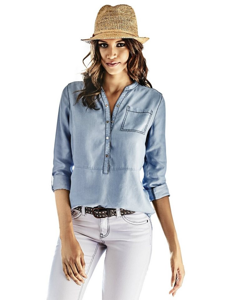 Jeansbluse in bleached