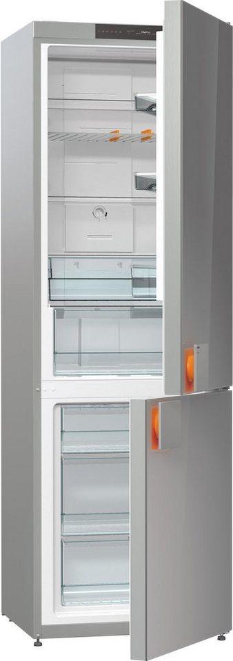 Gorenje by Starck® Kühl-Gefrierkombination NRK612ST, A++, 185 cm Höhe, No Frost in silbergrau