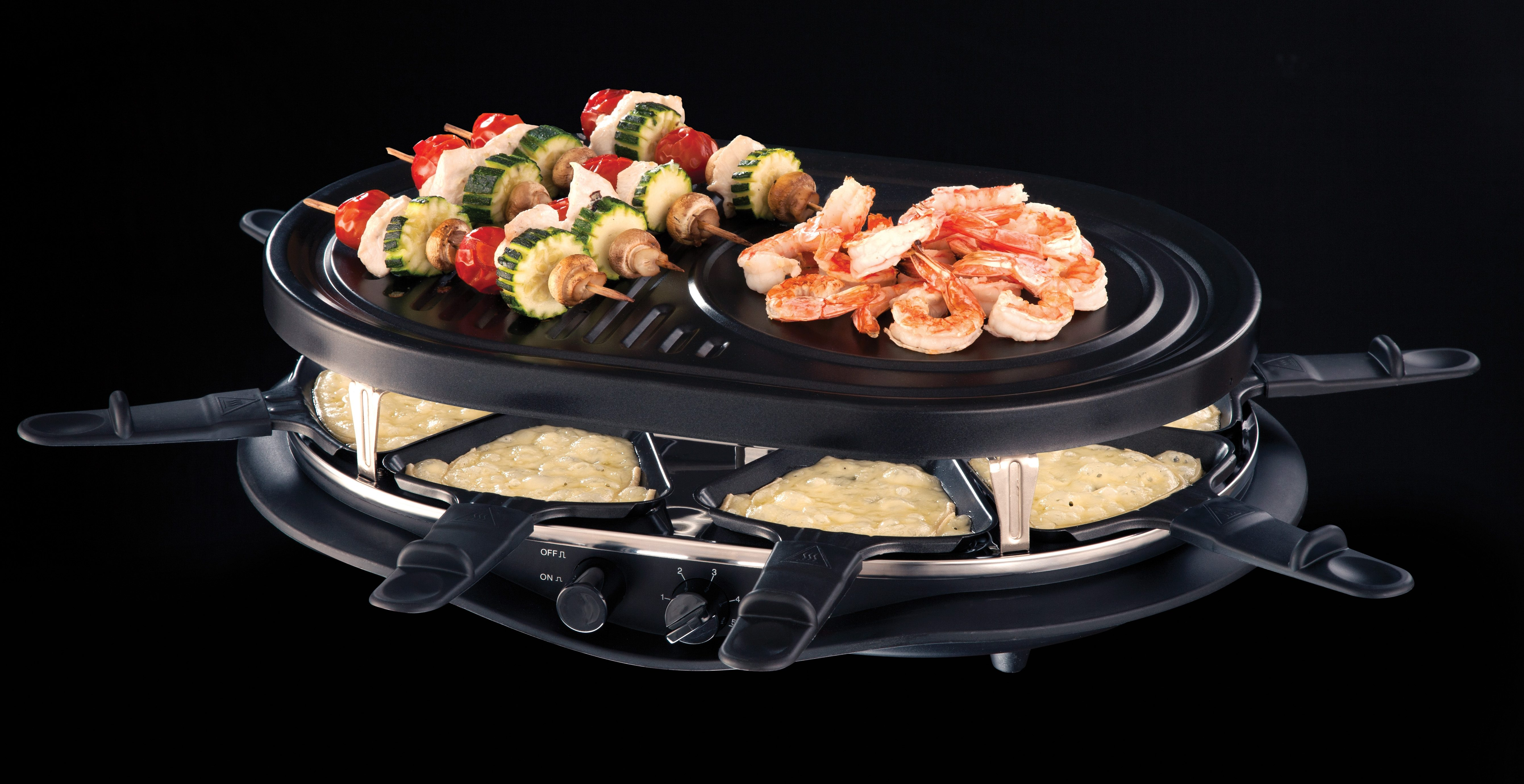 Russell Hobbs Multi-Raclette Fiesta 21000-56, 3 verschiedene Grillplatten, 1200 Watt