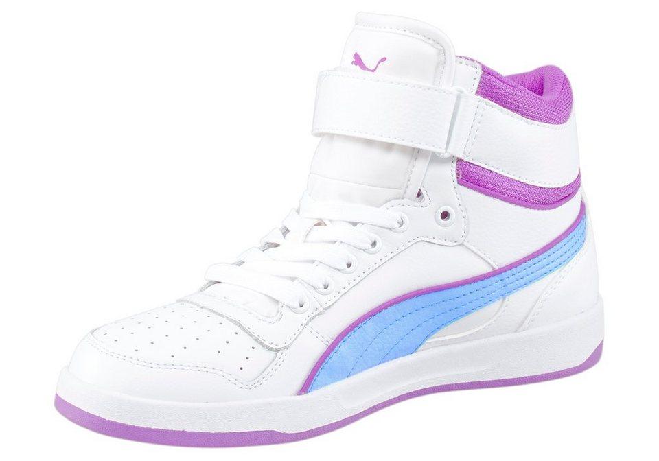 PUMA Liza Mid Jr Sneaker in Weiß-Blau-Pink