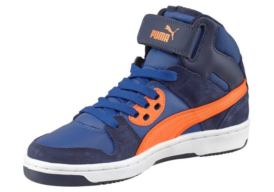 PUMA Rebound Street SD J Sneaker in Dunkelblau-Orange