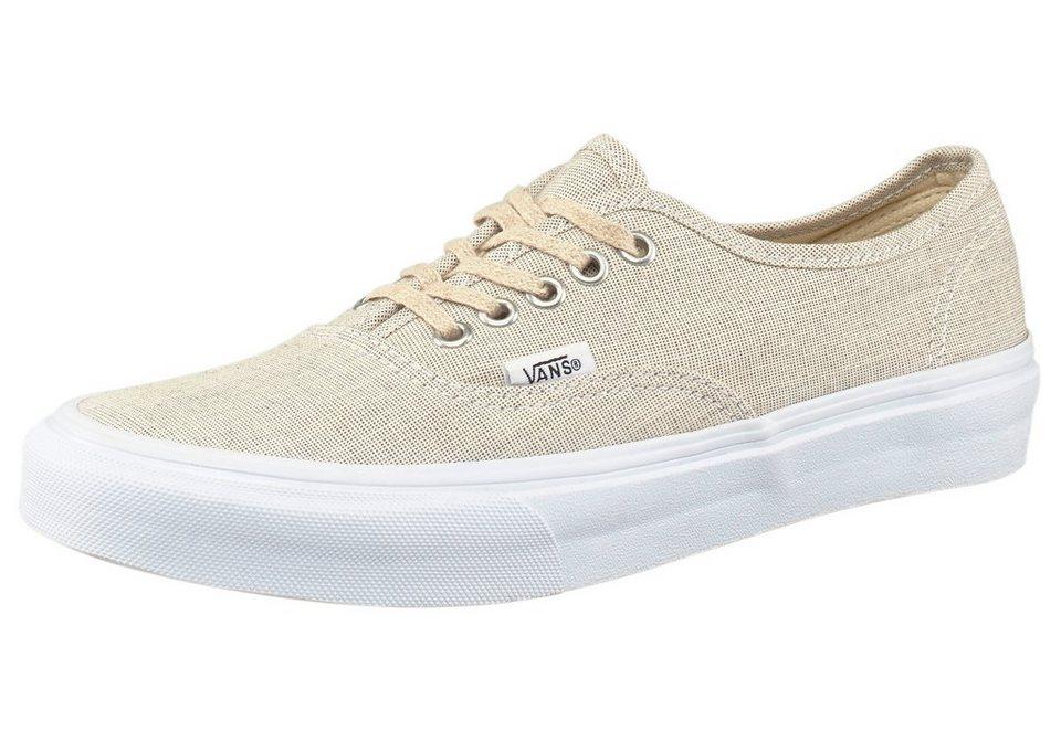 Vans Authentic Slim Sneaker in Beige