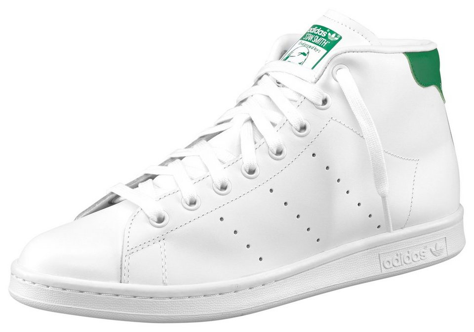 adidas Originals Stan Smith Mid Sneaker in Weiß-Grün